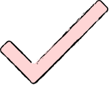 Illustration of a pink checkmark